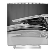 1935 Ford V8 Hood Ornament 4 Shower Curtain
