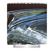 1935 Ford V8 Hood Ornament Shower Curtain
