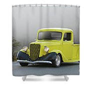 1935 Ford V8 Pickup Shower Curtain