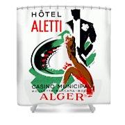 1935 Hotel Aletti Casino Algeria Shower Curtain