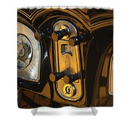 1935 Packard Console Shower Curtain