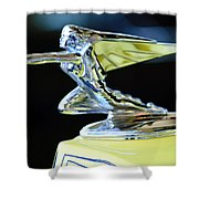 1935 Packard Hood Ornament Shower Curtain