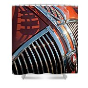 1935 Plymouth Hood Ornament Shower Curtain
