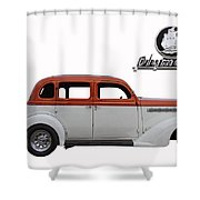 1935 Plymouth With Insignia Shower Curtain