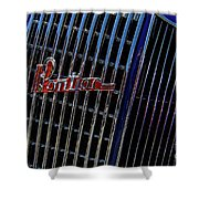 1935 Pontiac 2 Door Sedan Grill Logo Shower Curtain