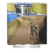 1935 Rolls-royce Phantom II Hood Ornament Shower Curtain