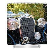 1935 Triumph Southern Cross Front Grill Shower Curtain