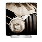1936 Bugatti Type 57s Corsica Tourer Grille Emblem -1673s Shower Curtain