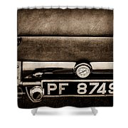 1936 Bugatti Type 57s Corsica Tourer License Plate -0067s Shower Curtain