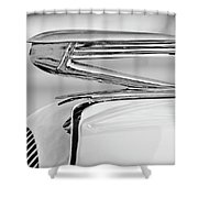 1936 Buick 40 Series Hood Ornament 2 Shower Curtain