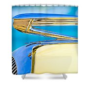 1936 Buick 40 Series Hood Ornament Shower Curtain