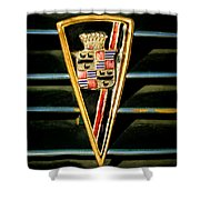 1936 Cadillac Fleetwood Emblem Shower Curtain