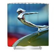 1936 Cadillac Hood Ornament 2 Shower Curtain