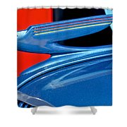1936 Chevrolet Hood Ornament 2 Shower Curtain