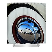 1936 Cord Phaeton Rim Shower Curtain