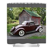 1936 Ford 3-window Shower Curtain
