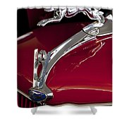 1936 Ford 68 Pickup Hood Ornament Shower Curtain