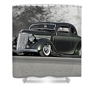 1936 Ford 'bug Crusher' Coupe Shower Curtain