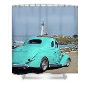 1936 Ford Coupe 'shoreline' 1 Shower Curtain