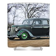 1936 Ford Deluxe Sedan I Shower Curtain