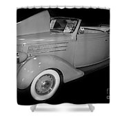 1936 Ford Rumble Seat Cabriolet  Shower Curtain