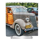 1936 Ford V8 Woody Station Wagon Shower Curtain