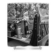 1936 Howe  Black And White Shower Curtain