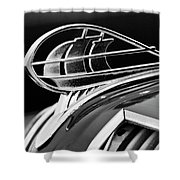 1936 Plymouth Sedan Hood Ornament 2 Shower Curtain