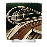 1936 Plymouth Sedan Hood Ornament Shower Curtain