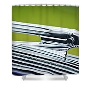 1936 Pontiac Hood Ornament 3 Shower Curtain