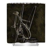 1936 Tandem Motored Biplane Shower Curtain