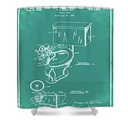 1936 Toilet Bowl Patent Green Shower Curtain