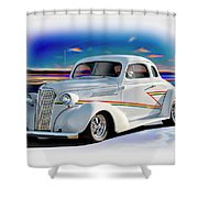1937 Chevrolet Coupe 'accent Graphics' Shower Curtain
