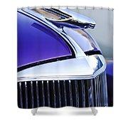 1937 Chevrolet Hood Ornament 2 Shower Curtain