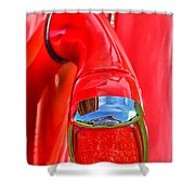 1937 Chevy Coupe Tail Light Shower Curtain