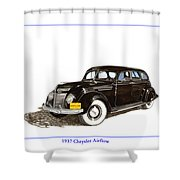 1937 Chrysler Airflow  Shower Curtain