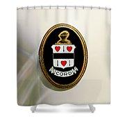 1937 Cord 812 Sc Phaeton Emblem -1203c4 Shower Curtain