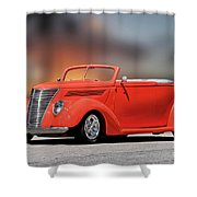 1937 Ford Cabriolet 'old School Vibe II Shower Curtain