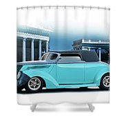 1937 Ford 'classic' Cabriolet Shower Curtain