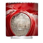 1937 Ford Headlight Detail Shower Curtain