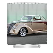 1937 Ford 'high End' Coupe I Shower Curtain