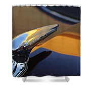 1937 Ford Hood Ornament 3 Shower Curtain