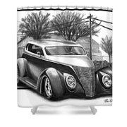 1937 Ford Sedan Shower Curtain