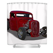 1937 Ford Truck Hot Rod Shower Curtain