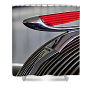 1937 Hudson Terraplane Sedan Hood Ornament Shower Curtain