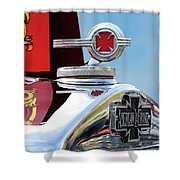 1938 American Lafrance Fire Truck Hood Ornament Shower Curtain