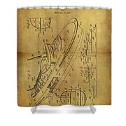 1938 Battleship Patent Shower Curtain