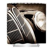 1938 Bmw 327-8 Cabriolet Grille Emblem -1526s Shower Curtain