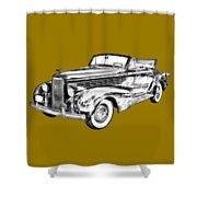 1938 Cadillac Lasalle Illustration Shower Curtain