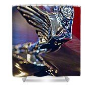 1938 Cadillac V-16 Hood Ornament Shower Curtain